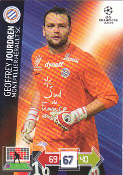 Geoffrey Jourdren Montpellier HSC 2012/13 Panini Adrenalyn XL CL #163