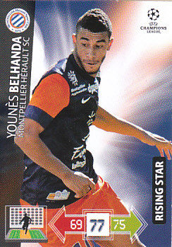 Younes Belhanda Montpellier HSC 2012/13 Panini Adrenalyn XL CL #169
