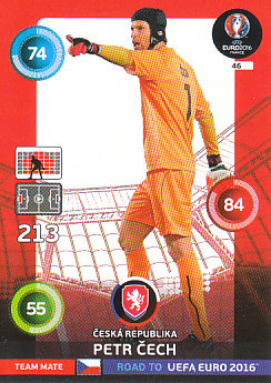 Petr Cech Czech Republic Panini Road to EURO 2016 #46