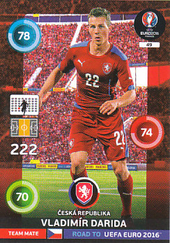 Vladimir Darida Czech Republic Panini Road to EURO 2016 #49