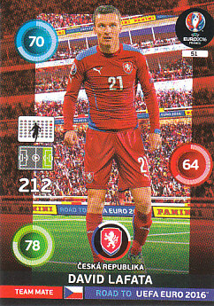 David Lafata Czech Republic Panini Road to EURO 2016 #51