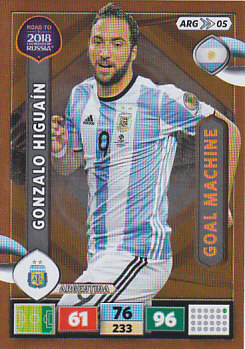 Gonzalo Higuain Argentina Panini Road to 2018 World Cup Goal Machine #ARG05