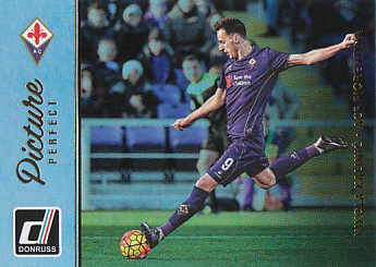 Nikola Kalinic Fiorentina 2016/17 Donruss Soccer Cards Picture Perfect Holographic Parallel #35