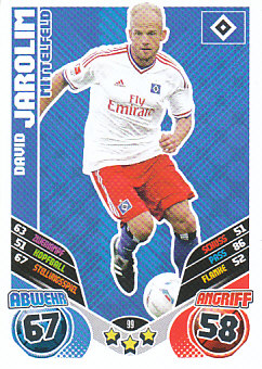 David Jarolim Hamburger SV 2011/12 Topps MA Bundesliga #99