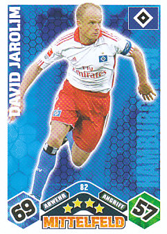 David Jarolim Hamburger SV 2010/11 Topps MA Bundesliga #82