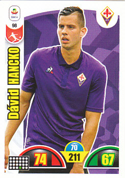 David Hancko Fiorentina 2018/19 Panini Calciatori Adrenalyn XL #98