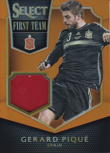 Gerard Pique Spain JERSEY 2015/16 Panini Select First Team Swatches /149 #FTGP