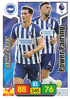Dunk Duffy Brighton & Hove Albion 2019/20 Panini Adrenalyn XL Power Pairing #72