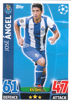 Jose Angel FC Porto 2015/16 Topps Match Attax CL #24