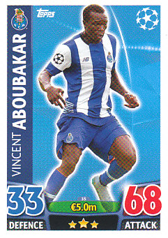 Vincent Aboubakar FC Porto 2015/16 Topps Match Attax CL #35