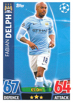Fabian Delph Manchester City 2015/16 Topps Match Attax CL #44