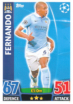 Fernando Manchester City 2015/16 Topps Match Attax CL #45