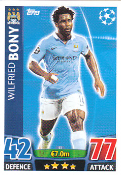 Wilfried Bony Manchester City 2015/16 Topps Match Attax CL #53