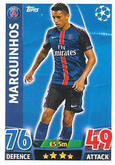 Marquinhos Paris Saint-Germain 2015/16 Topps Match Attax CL #58