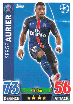 Serge Aurier Paris Saint-Germain 2015/16 Topps Match Attax CL #61