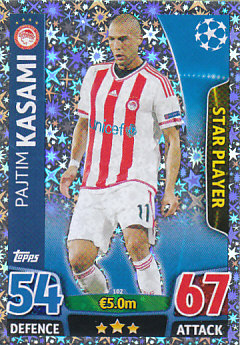 Pajtim Kasami Olympiacos FC 2015/16 Topps Match Attax CL Star Player #102