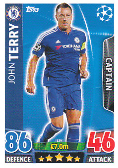 John Terry Chelsea 2015/16 Topps Match Attax CL Captain #129