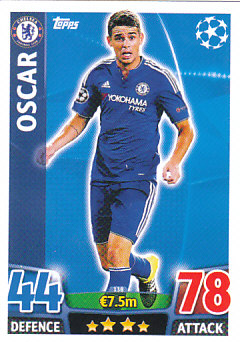 Oscar Chelsea 2015/16 Topps Match Attax CL #138